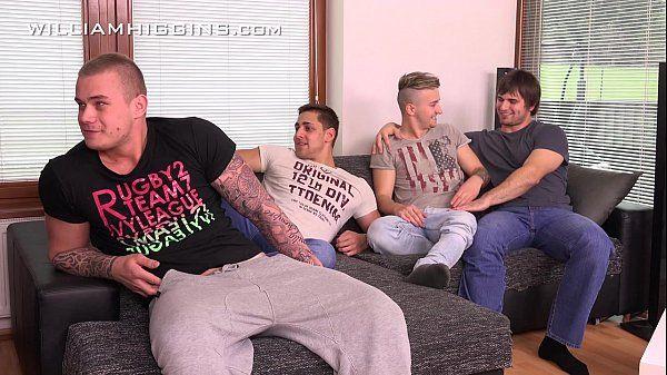 Raw four guys Wank Party at WilliamHigginsHD