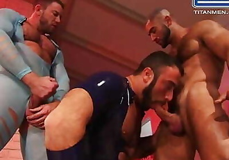 Francois Sagat, Shay Michaels & Spencer Reed in a scene from Incubus