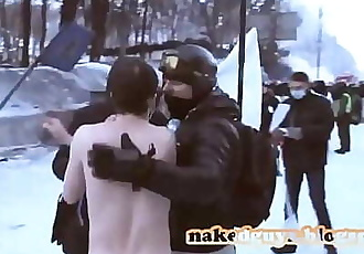 Naked Ukrainian protest CFNM CMNM https://nakedguyz.blogspot.com 3 min 720p