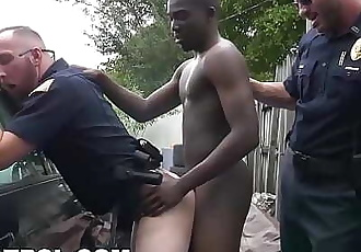 GAY PATROL Black Guy Gets Busted By The Cops While Tagging Up A Fence 12 min