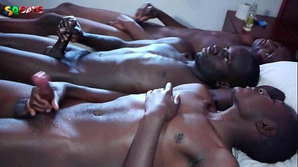 African Twinks Jerks Cock and Cum Together