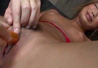 Blonde Japanese Rumika fucked until orgasm - 10 min