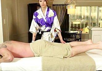 Busty asian massages dick - 5 min