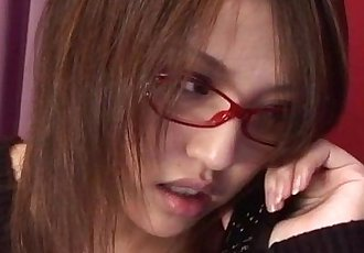 Cute Rino Mizusawa enjoys her new toy inside the pussy - 12 min
