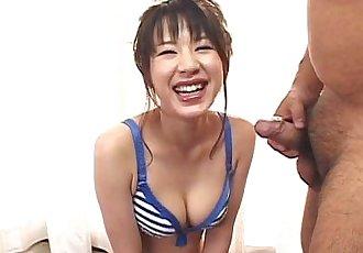 Cute Asian babe hot blowjob - 6 min