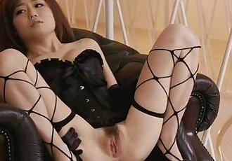 Pretty babe in fishnet pussy fondled and squirting - 8 min
