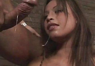 Asian babe deep throats huge cock in stunning blow job scene - 5 min