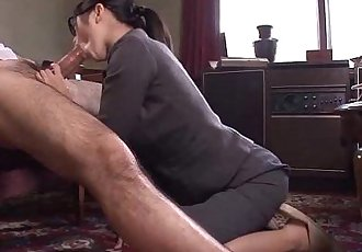 Office Lady Kana getting her wet pussy creampied - 58 sec