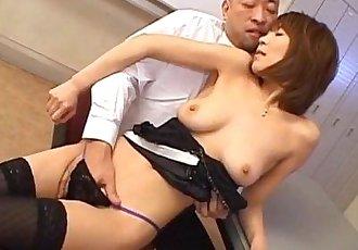 Jun Kusanagi Asian milf gets pussy licked and anus fingered before hardcore fucking - 10 min