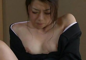 Asian widow getting dirty with her sex toys - 1 min 9 sec