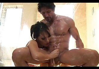 Asa Akira Asian Nuru Massage with Blowjob and 69 - 10 min
