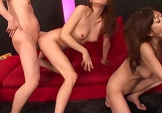 All out orgy with Asian cunts getting dick plastered - 8 min HD
