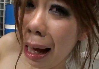 YoungSakura Aragaki fucked hard and made to swallow - 32 min