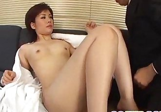 Yukino bends in doggy for a good fuck on the couch - 12 min