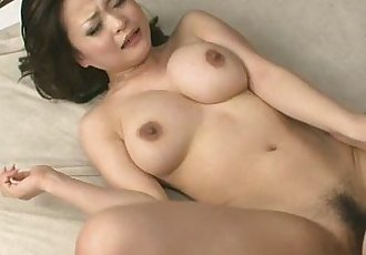 Gorgeous babe Yuu teasing and fondled with sex toy - 8 min