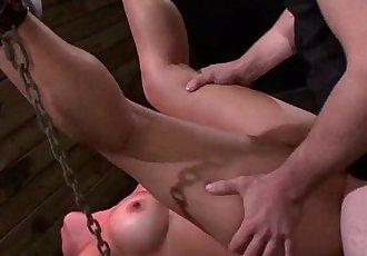 Busty Asian babe Mia Li chained pussy fucked - 6 min