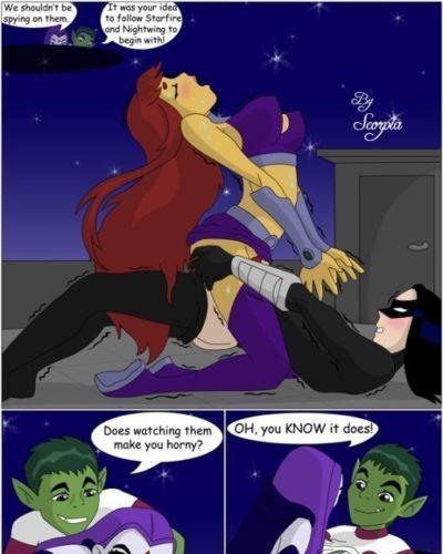 Scorpia Spying (Teen Titans)