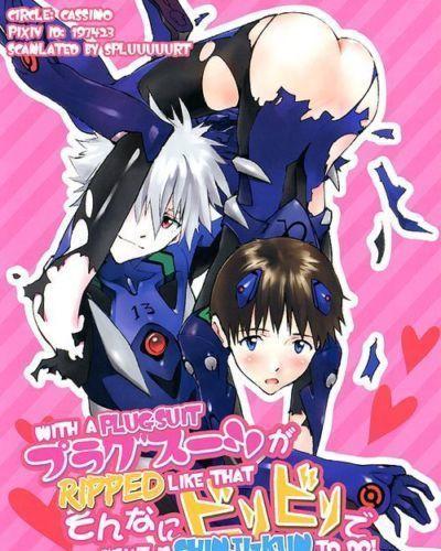 (C86) cassino (Magarikoji Lily) Plug Suit ga Sonna ni Biribiri de Dou suru no Shinji-kun! - With a plugsuit ripped..