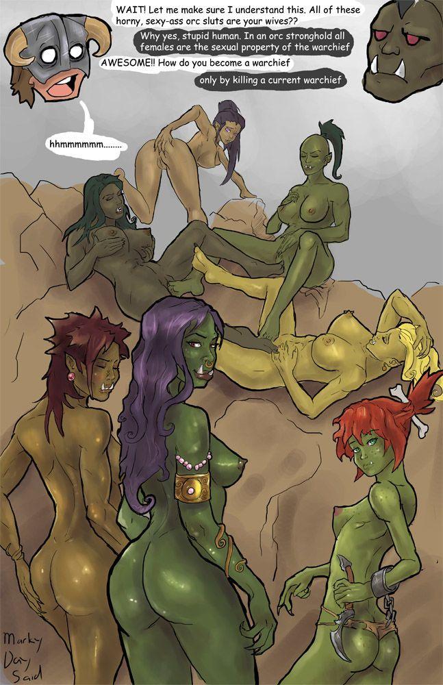 MarkyDaySaid Dragonborn and the Orcs (The Elder Scrolls: Skyrim)