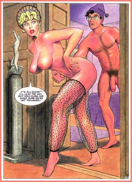 Порно леди фото комиксы
