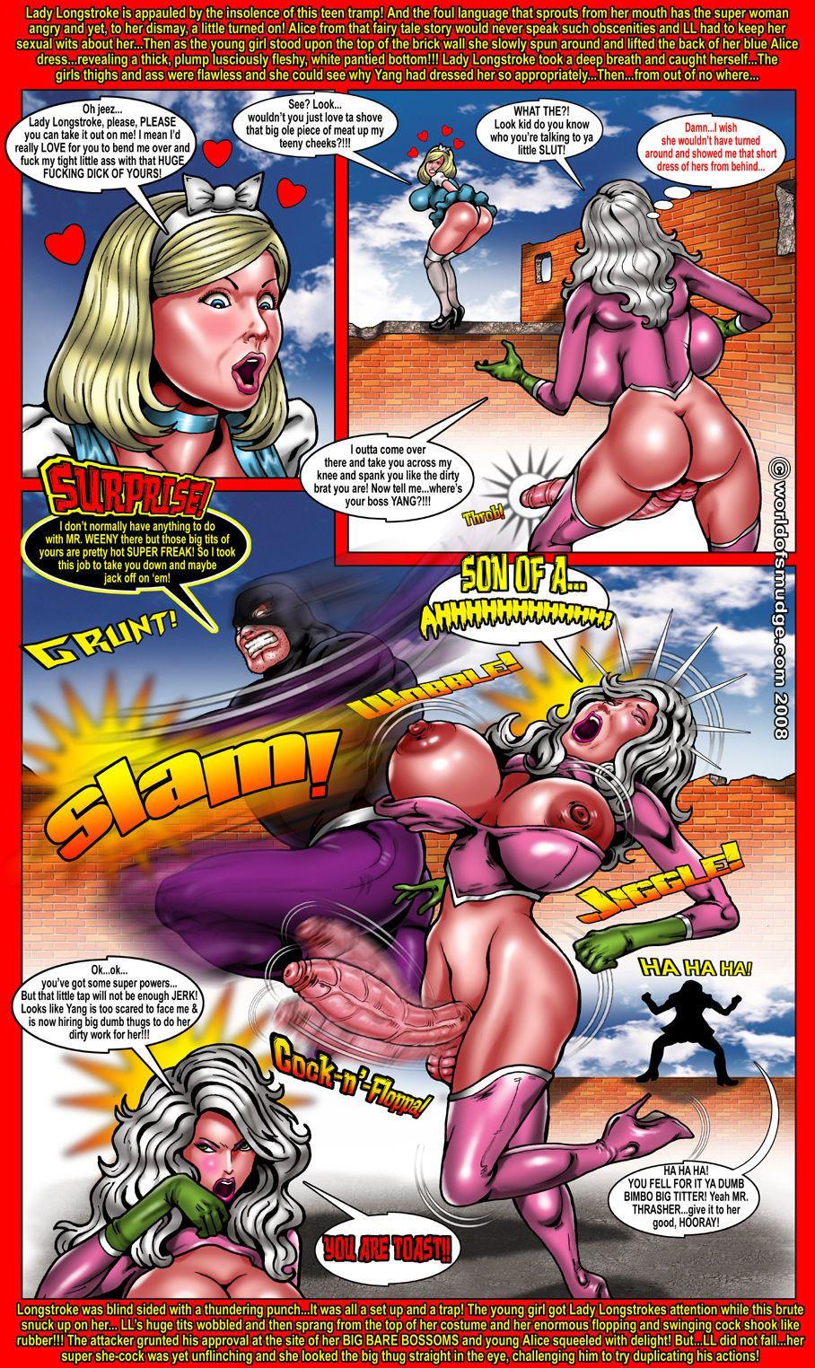 Smudge Lady Long Stroke - Super Cock Woman!