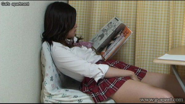 Aki Kawana Masturbation reading a naughty book