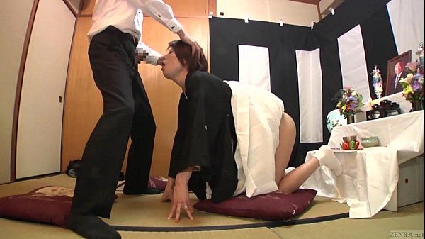 Subtitled Japanese funeral blowjob with enema explosion HD HD