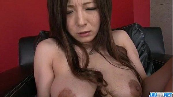 Big tits Ayami tries dildo up her tight pussy