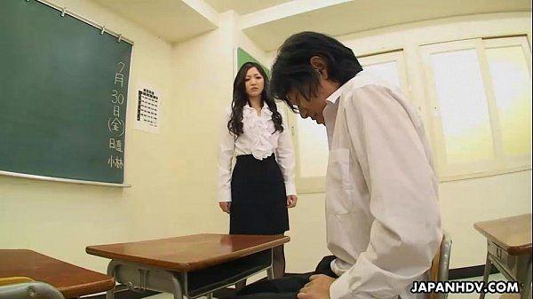 Very cute student sucking her teacher\