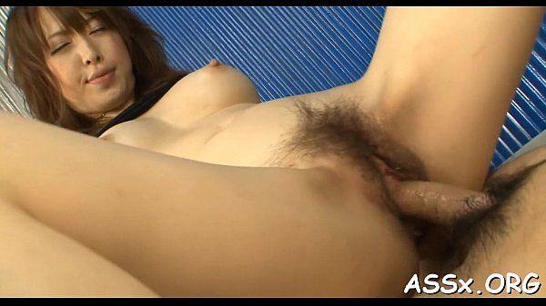 Wild anal dance for cute asian schoolgirl