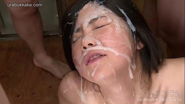 Japanese woman takes several uncensored huge facials