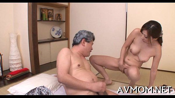 Horny mom caressed and fucked