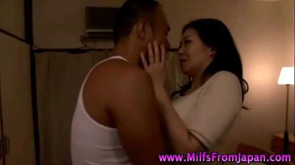 Hot asian milf slut sucking cock
