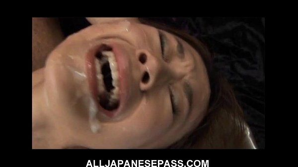 This fine Japanese babe gets a hot bukkake