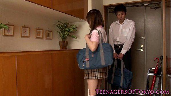 Japanese schoolgirl fucking her study partner HD