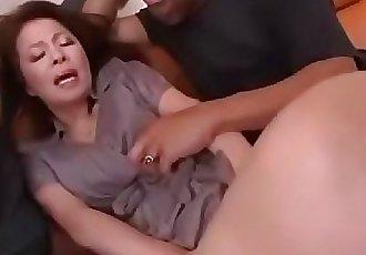 Japanese mature black gangbang abuse 58 min