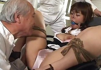 Asian tied up bitch squirts from her bdsm session - 8 min