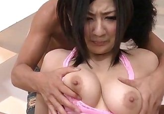Megumi Harukas has her sweet little body covered in oil and teased until she cum - 5 min