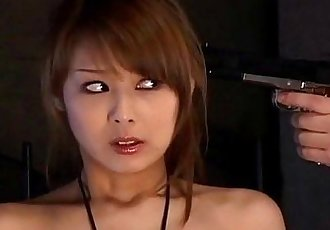 Japanese spy babe gives a hot double blowjobs uncensored - 5 min