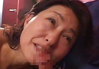 Milf Giving Blowjob For Young Guy Getting Her Hairy Pussy Fucked Cum To Body On - 8 min