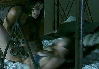 Busty shaved asian lesbian katsuni - 10 min HD