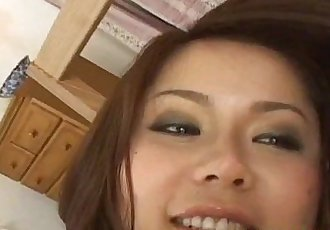 Megu Ayase fingered and fucked in hairy twat - 10 min
