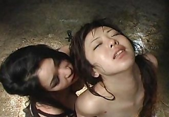 Provocative Asian slavegirl whipped by a horny domme - 15 min