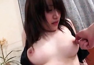 Shizuku Morino brunette babe plays nasty on a big cock - 12 min