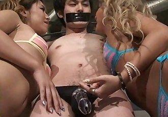 Mistress Land Japanese Girls enjoy ejaculation management - 2 min
