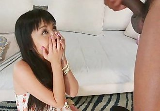 Shy japanese beauty swallows cum out bbc - 7 min