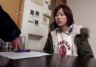 Amateur asian teen fucked on washing machine - 8 min HD