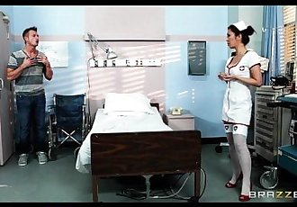 Sexy Japanese nurse Marcia Hase helps rehabilitate her patient - 7 min HD