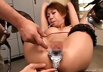 Humiliated fetish asian speculum - 10 min