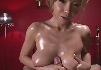 Oiled Up Teen Sumire Matsu Sucks Dick In POV - 8 min